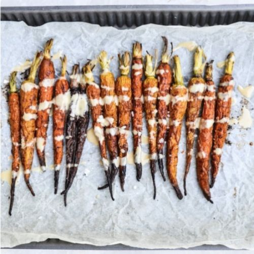 Cinnamon Roasted Rainbow Carrots