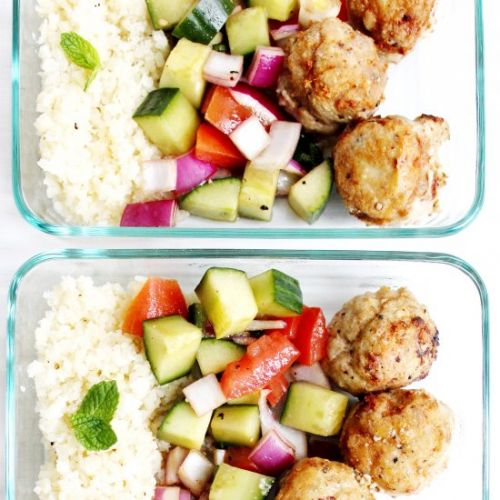 Greek Turkey Meatball Meal Prep