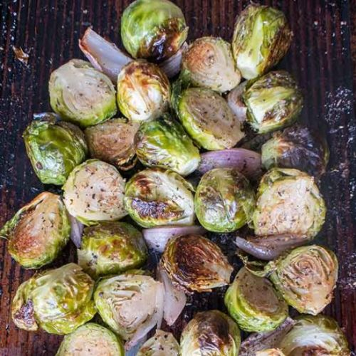 Roasted Brussel Sprouts & Shallots