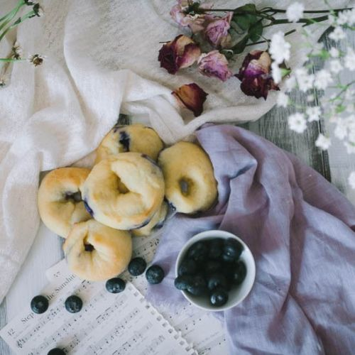 BLUEBERRY BAGELS - LOW CARB