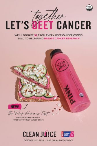 "Clean Juice Fights Breast Cancer With ""Beet Cancer"" Campaign Benefitting the American Cancer Society"