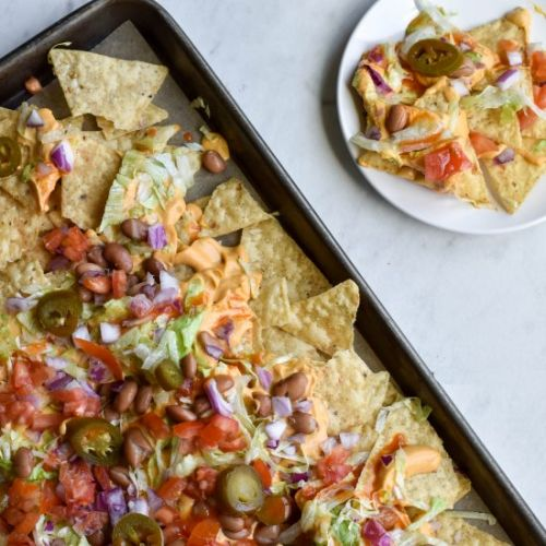 Nachos with Buffalo Queso