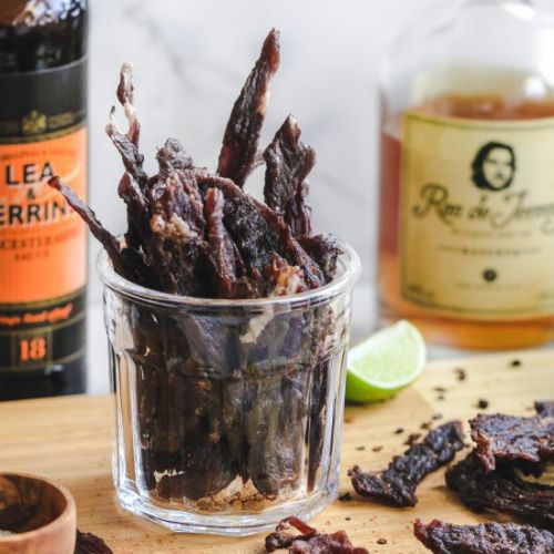 Dark and stormy beef jerky