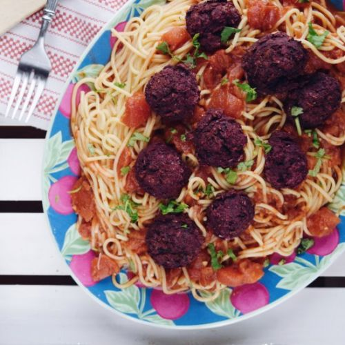 Black Bean & Beet Meatballs