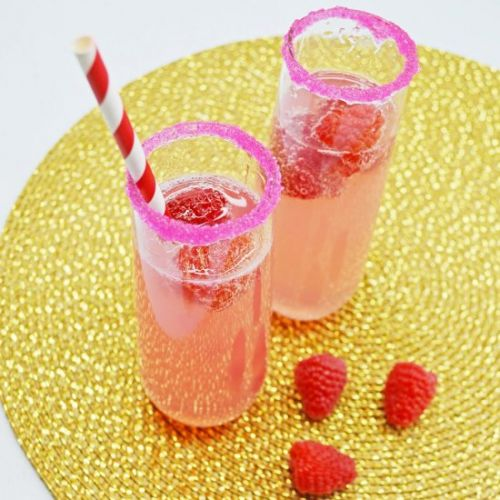 Raspberry Lemonade Mimosas