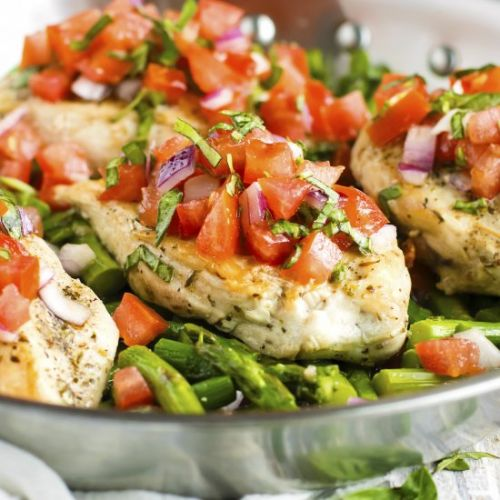 Easy Skillet Bruschetta Chicken