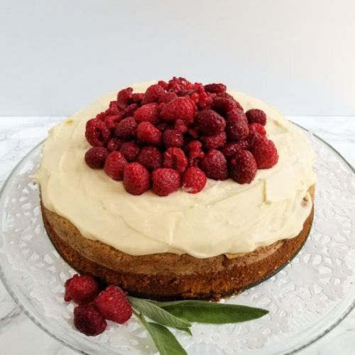 Olive Oil Cake With Lemon Cream