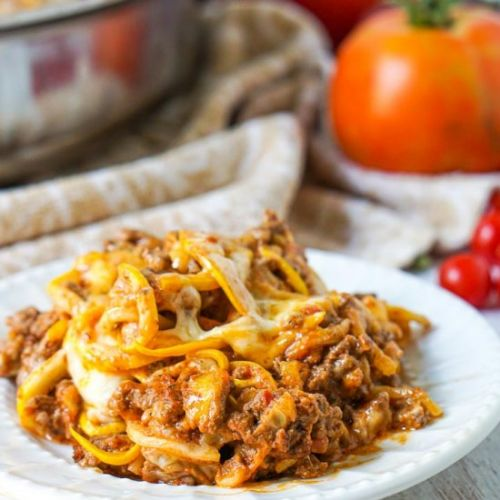Low Carb Zucchini Ground Beef