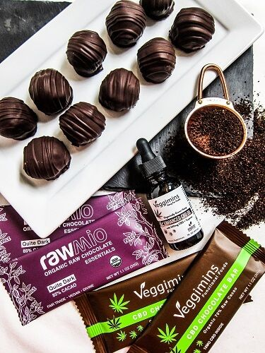Mocha Dark Chocolate CBD Truffles