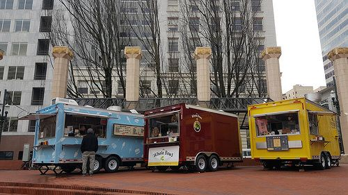 Pioneer Courthouse Square Food Cart Lot