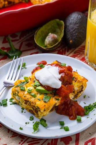 Mexican Breakfast Egg and Chorizo Casserole