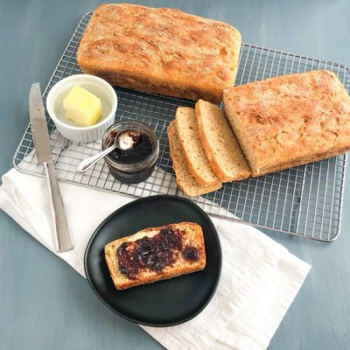 The Easiest English Muffin Bread