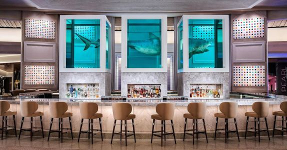 A Controversial Damien Hirst Shark is the Star of Las Vegas Palms' New Bar