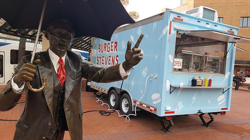 Burger Stevens at Pioneer Courthouse Square