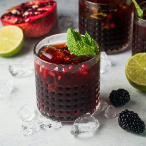 Pomegrate Blackberry Tequila Smash