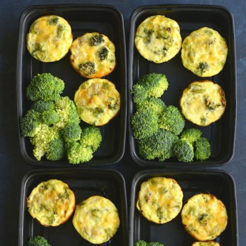 Cheesy Sausage Broccoli Egg Muffins