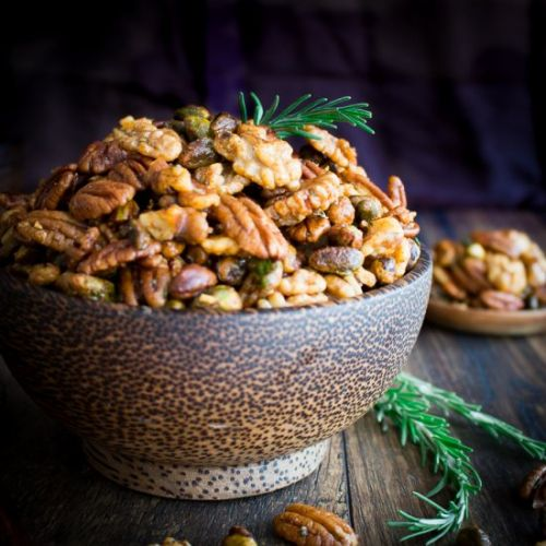 Stove Top Rosemary Party Nuts