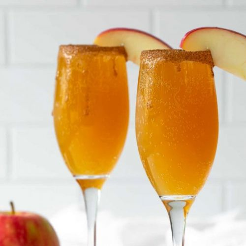 Caramel apple mimosas