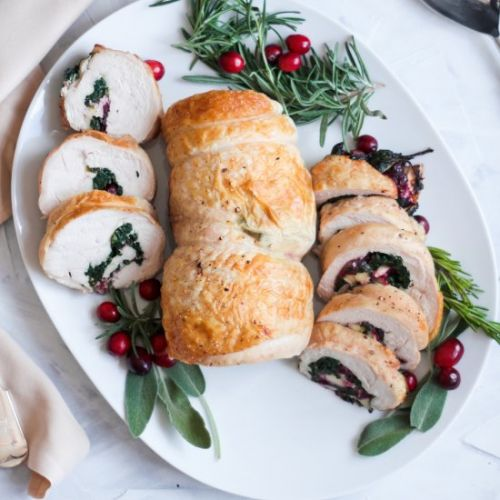 Cranberry Brie Turkey Roulde