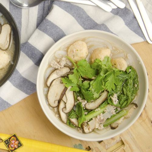 Chinese Silver Needles Noodles Soup
