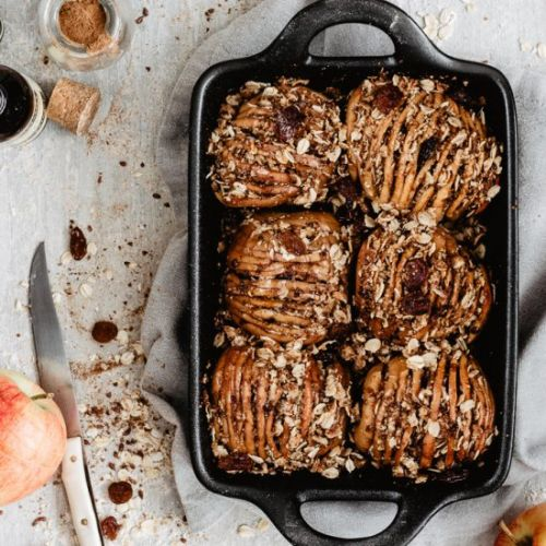 HASSELBACK APPLES WITH OATS