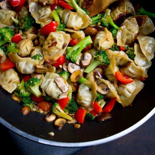 Chicken Wonton Stir Fry
