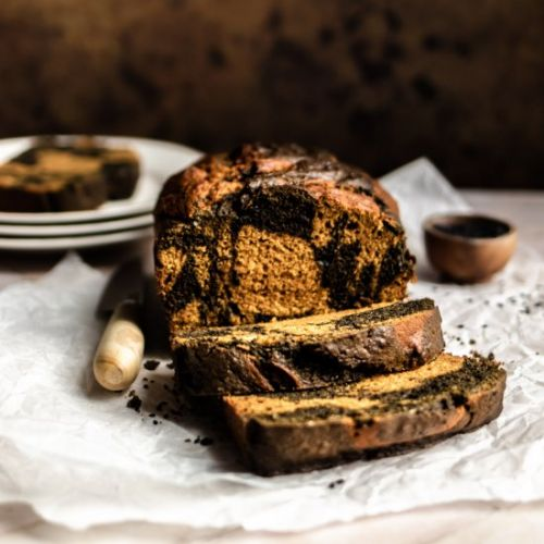 Black Sesame Swirl Pumpkin Bread