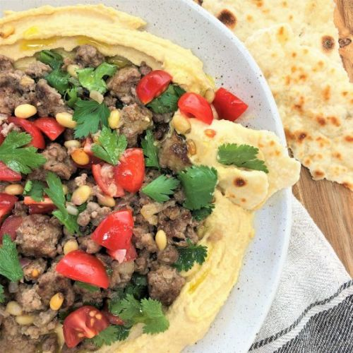 Lamb with Hummus