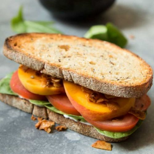 Vegan Coconut BLT Sandwich