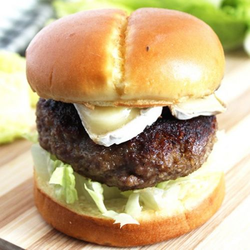 Honey Truffle Burger with Brie