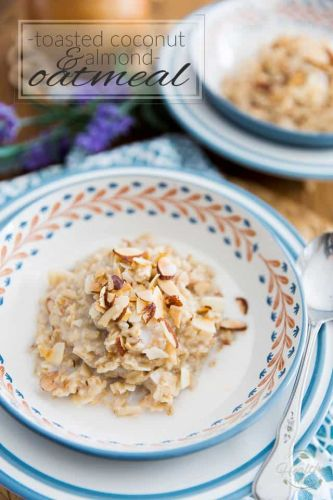 Toasted Coconut and Almond Oatmeal