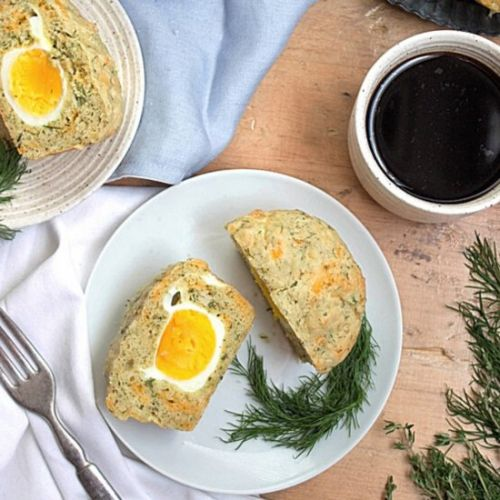 Hard-Boiled Egg + Cheddar Muffins