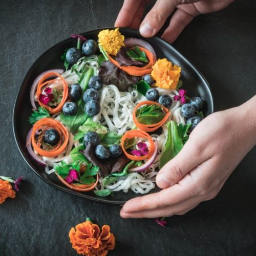 Flowers and Ribbons Salad