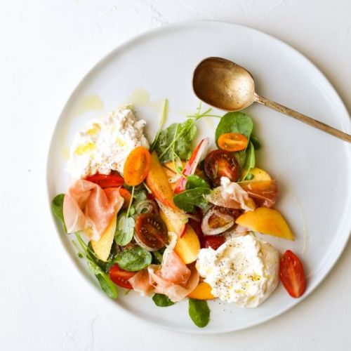 Burrata Salad with Prosciutto and N