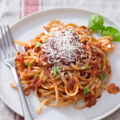 Pasta with Speedy Tomato Sauce