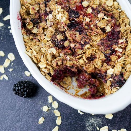 Blackberry Crumble For Two