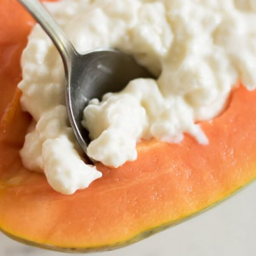 Cottage Cheese Papaya