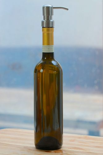 DIY Wine Bottle Projects: Vinegar Bottle or Soap Dispenser