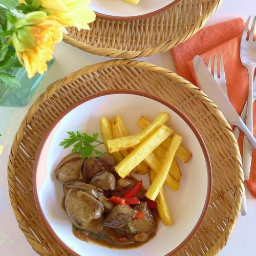Lamb´s Liver with Onion Sauce