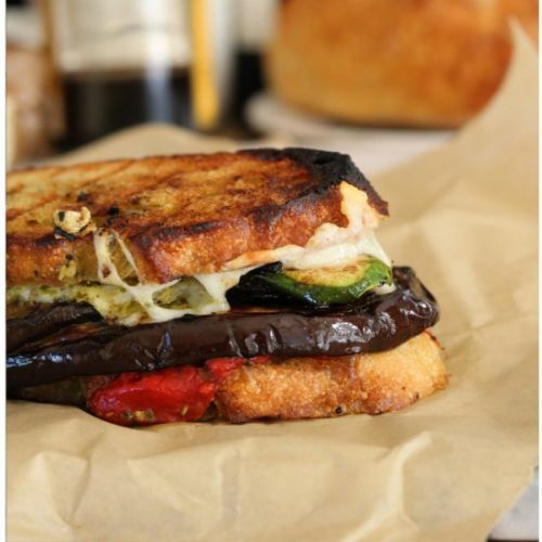 Grilled Vegetable Sandwich w/Asiago
