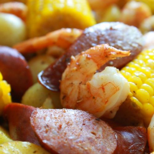 Sheet Pan Cajun Shrimp Boil
