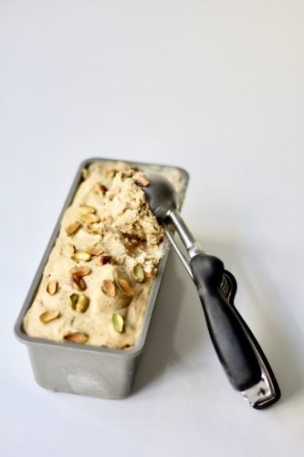 No-Churn Pistachio Ice Cream