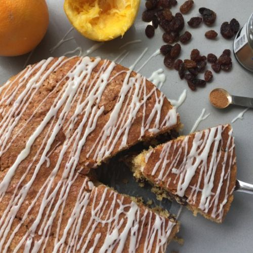 Sultana and Orange Drizzle Cake