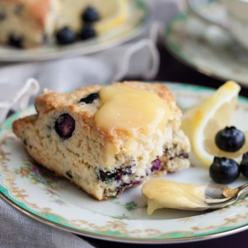 Lemon Blueberry Cream Scones