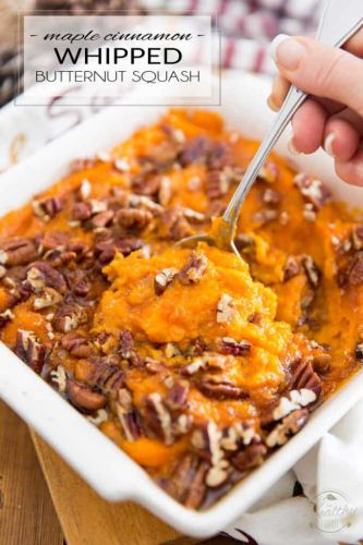 Maple Cinnamon Whipped Butternut Squash