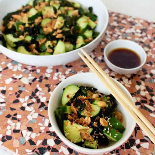 Asian Cucumber Salad with Wakame