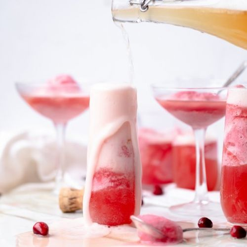 Cranberry Mimosa Float