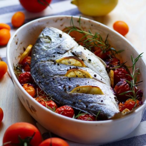 Oven baked fish