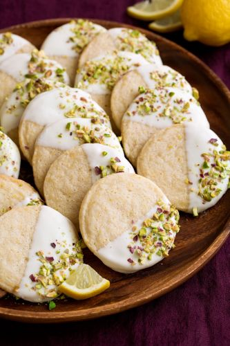 White Chocolate Dipped Lemon Shortbread