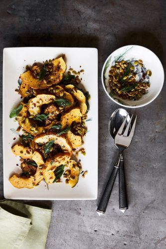 Honey-Roasted Squash with Pepitas and Sage